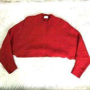 Wilfred Merino Wool Cropped Long sleeve top